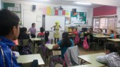 Visita de l'Aloja a l'escola Ciutat Cooperativa